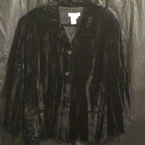 Coldwater Creek black button up blazer 2x